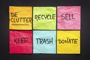 Declutter Recycle Sell Donate Trash Keep