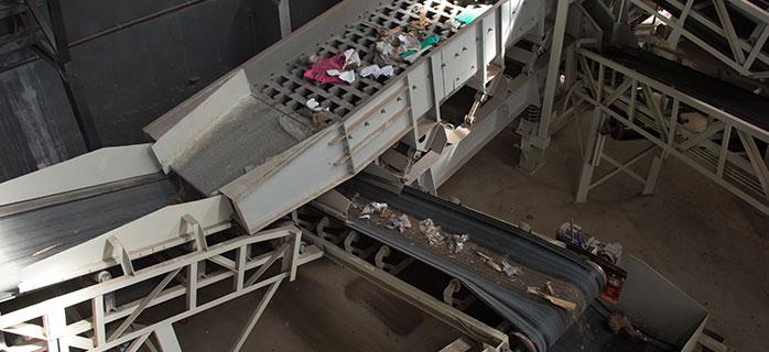 Screens used at waste facility