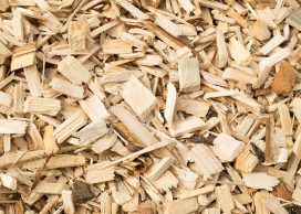 Close up of wood chips