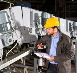Employee Maintaining Equipment